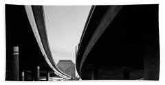 Under Interstate 5 Sacramento Beach Towel
