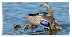 Under My Wings Beach Sheet by Fraida Gutovich