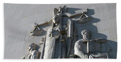 Under Scales Of Justice Beach Towel