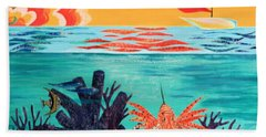 Bright Coral Reef Beach Towel