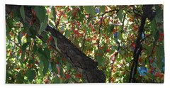 Under The Berry Tree Beach Towel by Catherine Gagne