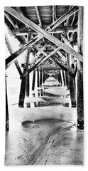 Under The Boardwalk Beach Towel by Wade Brooks