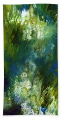 Under The Canopy- Abstract Art By Linda Woods Beach Towel