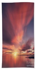 Under The Flaming Skies Beach Towel