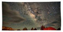 Under The Milky Way Beach Towel by Anne Rodkin