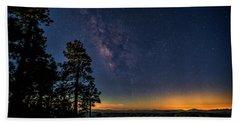Beach Towel featuring the photograph Under The Milky Way  by Saija Lehtonen