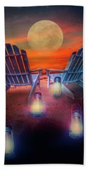 Beach Towel featuring the photograph Under The Moon by Debra and Dave Vanderlaan