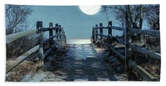 Under The Moonbeams Beach Towel