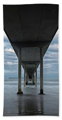 Under The Ocean Beach Pier San Diego Early Morning Beach Towel