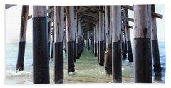 Under The Pier Beach Towel
