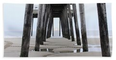 Under The Pier Beach Towel by Sharon Batdorf