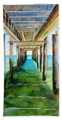 Under The Playa Paraiso Pier Beach Towel