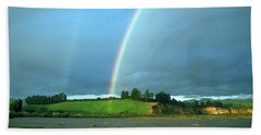 Beach Towel featuring the photograph Under The Rainbow by The Walkers