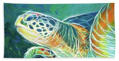 Beach Towel featuring the painting Under The Sea by Angela Treat Lyon