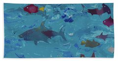 Beach Towel featuring the painting Under The Sea by Robert Margetts