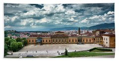 The Meridian Palace And Cityscape In Florence, Italy Beach Sheet