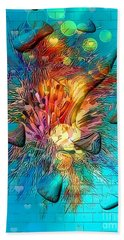 Beach Towel featuring the digital art Under Water By Nico Bielow by Nico Bielow
