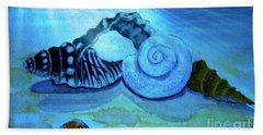 Under Water Castles Beach Towel by Leanne Seymour