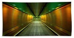 Underground Heathrow Beach Towel