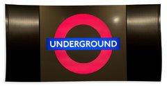 Underground Sign Beach Towel