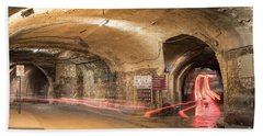 Underground Tunnels In Guanajuato, Mexico Beach Towel by Juli Scalzi