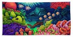 Undersea Creatures Vii Beach Sheet