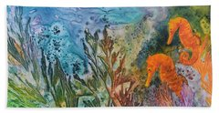 Beach Sheet featuring the painting Undersea Garden by Nancy Jolley