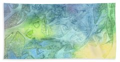 Beach Towel featuring the painting Undersea Luminescence by Kristen Fox
