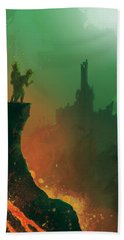Undersea Volcano Beach Towel