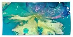 Underwater Flower Abstract 10 Beach Sheet by Lorella Schoales