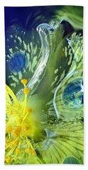 Underwater Flower Abstraction 1 Beach Sheet by Lorella Schoales