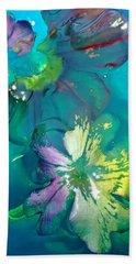 Underwater Flower Abstraction 3 Beach Sheet by Lorella Schoales