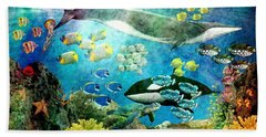 Underwater Magic Beach Towel