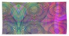 Beach Towel featuring the digital art Underwater World I by Visual Artist Frank Bonilla