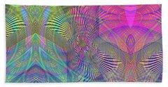 Beach Towel featuring the digital art Underwater World II by Visual Artist Frank Bonilla