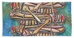 Unending A Malachite Gothic Of Non-conventional Copulating Locusts Beach Towel