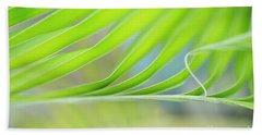 Unfurling Palm Leaf Macro Beach Towel