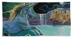 Unicorn Lake Beach Towel