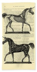 Unicorns Anatomy Beach Towel