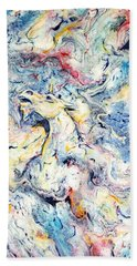 Unicorns And Rainbows  Beach Towel