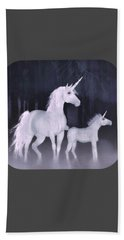 Unicorns In The Mist Beach Towel