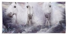 Unicorns Of The Mountains Beach Towel