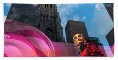 Beach Towel featuring the photograph Unimpressed In New York by Alex Lapidus