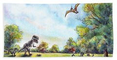 Uninvited Picnic Guests Beach Sheet