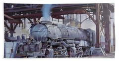 Beach Towel featuring the painting Union Pacific Big Boy by Mike  Jeffries