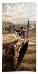 Union Soldiers On Lookout Mountain Beach Towel