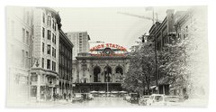Beach Towel featuring the photograph Union Station  by Susan Rissi Tregoning