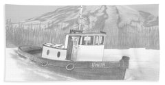 Tugboat Union Beach Sheet by Terry Frederick
