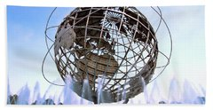Unisphere With Fountains Beach Sheet