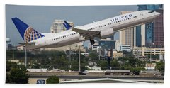 United Airlines Beach Towel